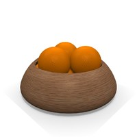 realistic orange fruit bowl 3d 3ds