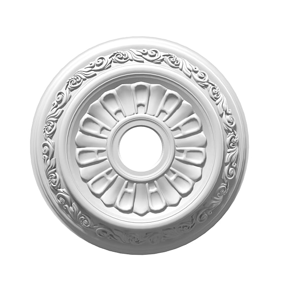 Petergof P35 Ceiling Plaser Medallion Rosette Rose decorative element  classic carved  0001.jpg