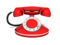 3d model vintage phone