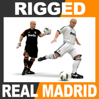 3ds max rigged football player -