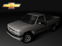 3ds max chevrolet silverado mk1 regular