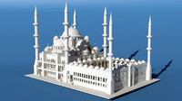3d model of sultan ahmet camii