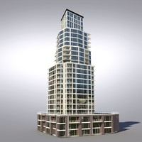 buildings vancouver architectural 3d model