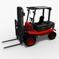 3ds max hight lift truck desta