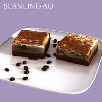 espresso cheesecake 3d max