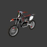 low poly dirt bike 07