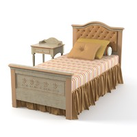 Ferretti & Ferretti happy night children kid single tufted bedroom set