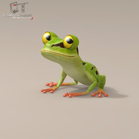 Frog cartoon character
