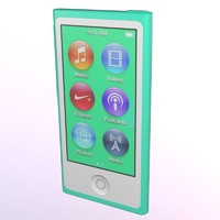 3d model ipod nano apple display