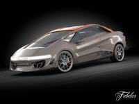 3d model bertone nuccio concept