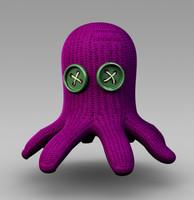 octopus toy 3d model