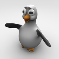 3d cute penguin model