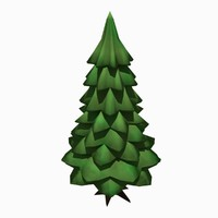 simple spruce tree blend