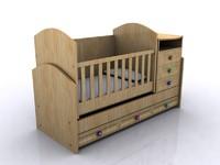 3d model baby crib