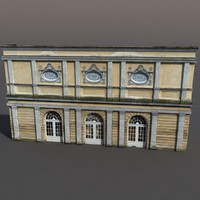 building exterior modeled 3d max