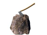 3d model of axe