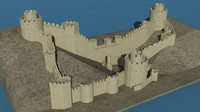 3d model turkey rumeli hisari