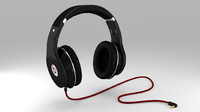 3d model beats studio headphones