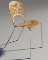 3d max chair trinitad style wood