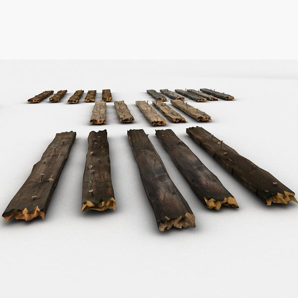 old wooden planks 3d x - Broken Wooden Planks Collection 4... by Litarvan