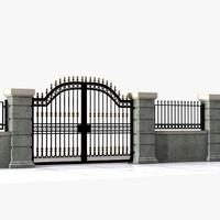 3dsmax wrought iron gate