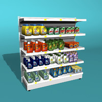 Shelf Detergents 3d Model