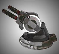 artillery cannon 3d max