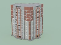 low-polygonal building games 3d model