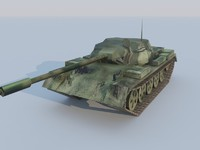 T-59 Tank Low poly