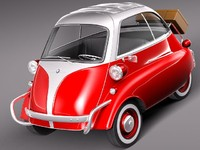 3d bmw isetta 300 1955 model