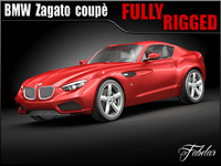 bmw zagato coupè concept 3d model