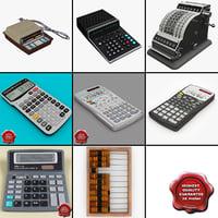 calculators 3 3d obj