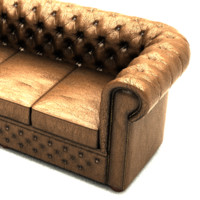 chesterfield sofa set 3d ma