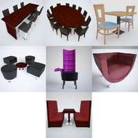3d tables chairs model