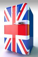smeg fridge 3d model