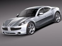 fisker karma 2012 sedan 3d model