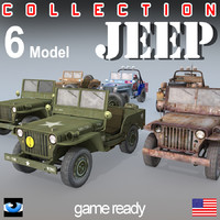 3d model jeep suv willys