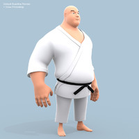 3d funny fighter model