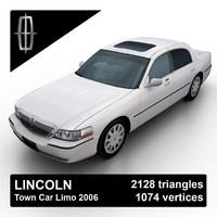 3ds max 2003-2011 town car sedan