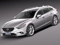 3d model mazda 6 2013 car