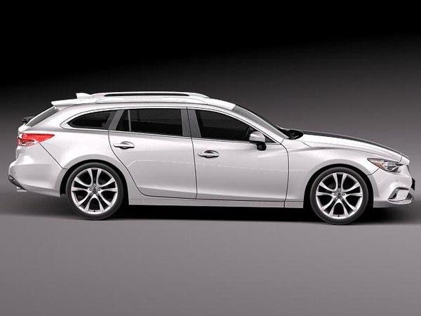 3d model mazda 6 2013 car. Black Bedroom Furniture Sets. Home Design Ideas
