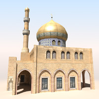 3d mosque arab afghan model