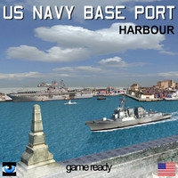 navy base port scenario 3d model