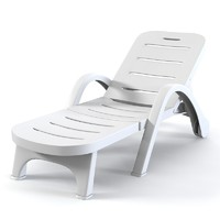 3ds max plastic sunlounger sun