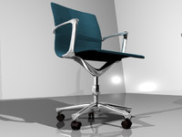 3d bank chair stool model