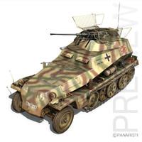 sd kfz 250 9 3d 3ds