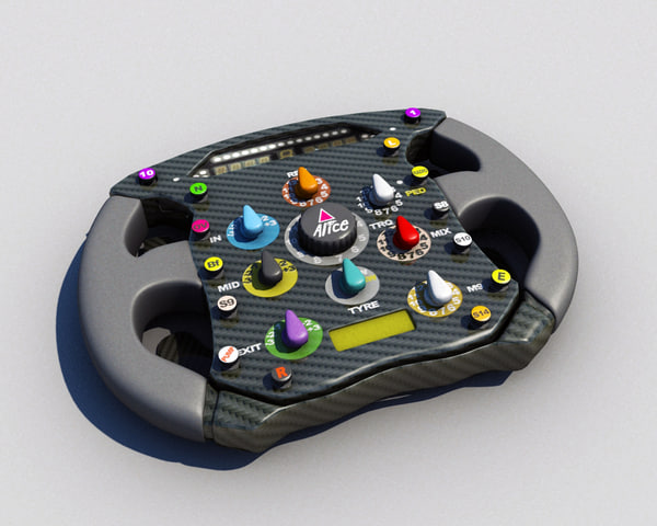 3ds max ferrari formula steering wheel - Steering wheel... by 3D4Ds