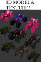 3ds max set atv bikes