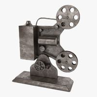 antique film projector 3d 3ds