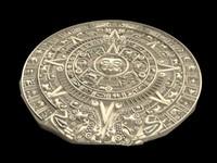 aztec calendar 3d ma